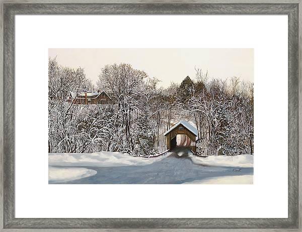 Il Ponte Coperto Di Legno Framed Print