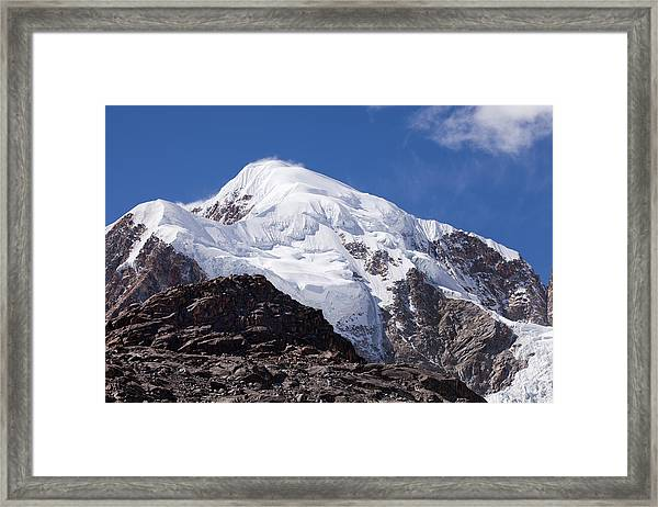 Illampu Mountain Framed Print