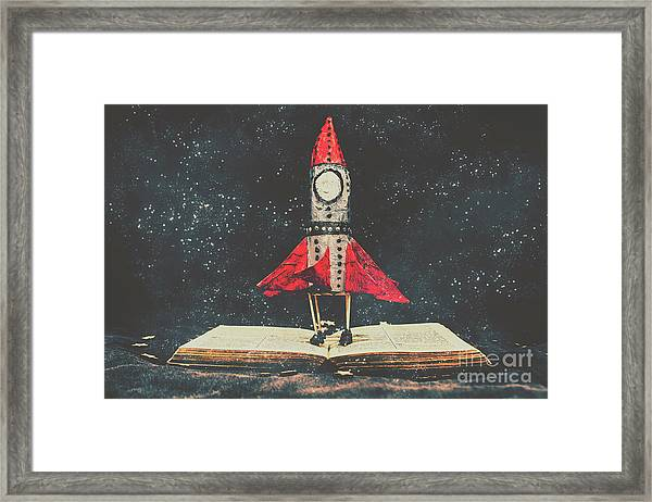 Imagination Is A Space Of Learning Fun Framed Print