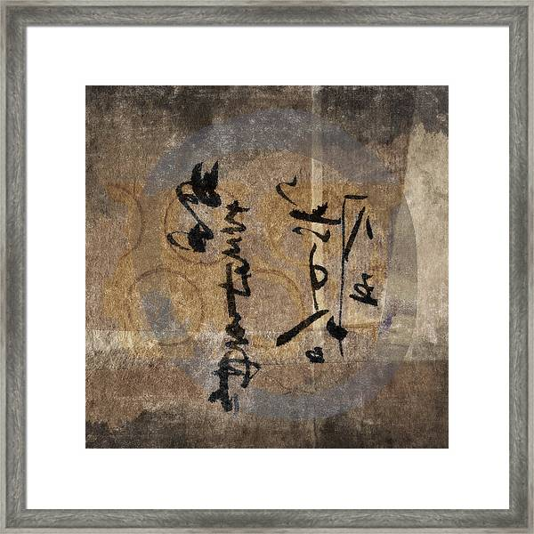 Imagined Calligraphy Framed Print