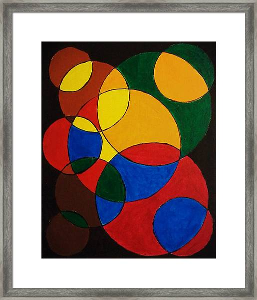 Imperfect Circles Framed Print