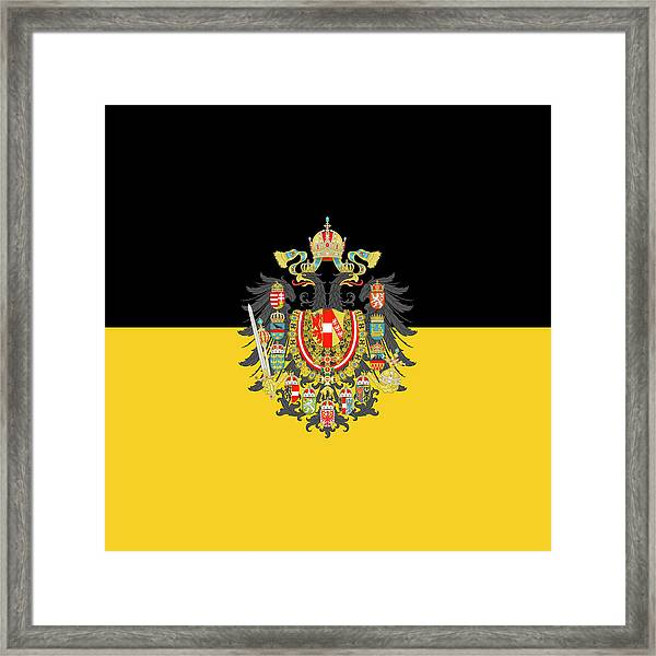 Habsburg Flag With Imperial Coat Of Arms 1 Framed Print