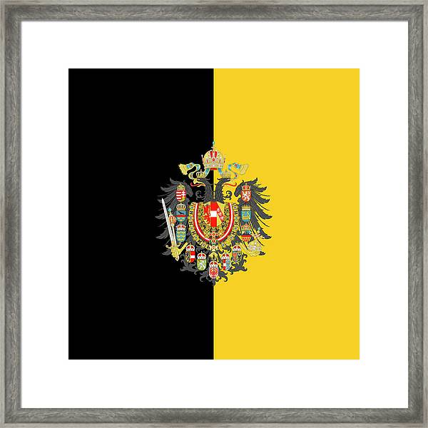 Habsburg Flag With Imperial Coat Of Arms 2 Framed Print