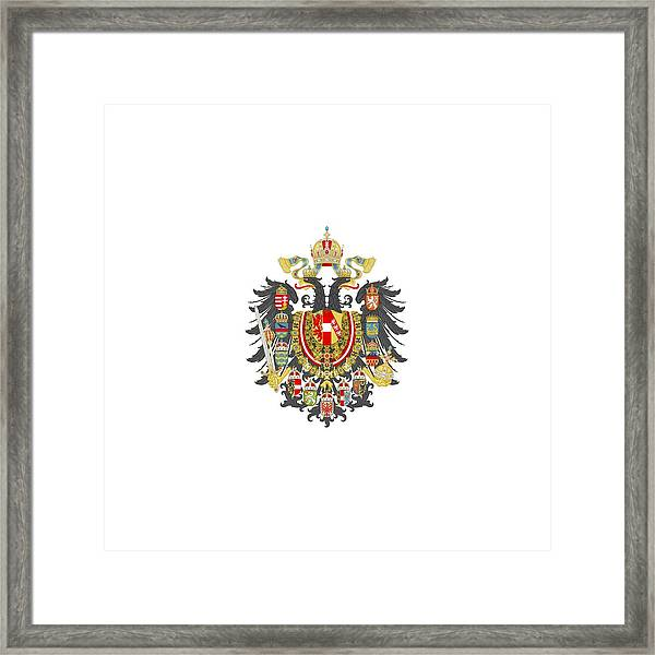 Imperial Coat Of Arms Of The Empire Of Austria-hungary Transparent Framed Print