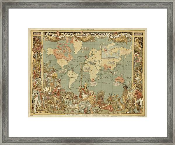 Imperial Map Framed Print