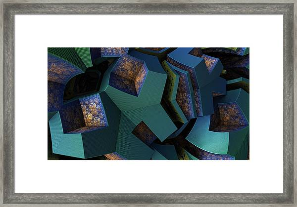 Impossible Boxes Framed Print