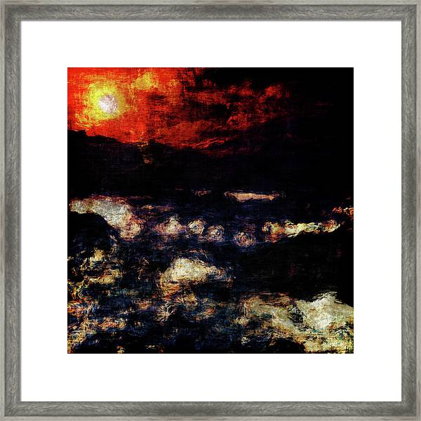 Framed Print featuring the painting Impression Of A Seaview by Jan Keteleer