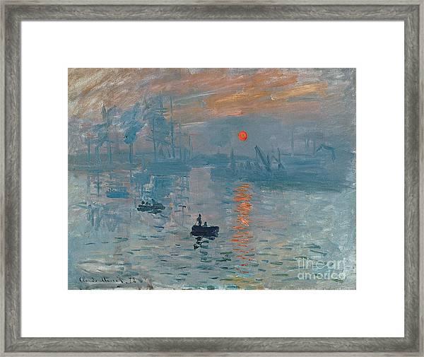Impression Sunrise Framed Print
