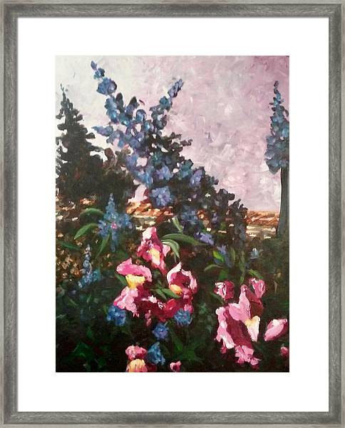 Framed Print featuring the painting Impressionistic Flowers by Ray Khalife