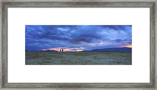 Impromptu Meeting In The Desert Framed Print