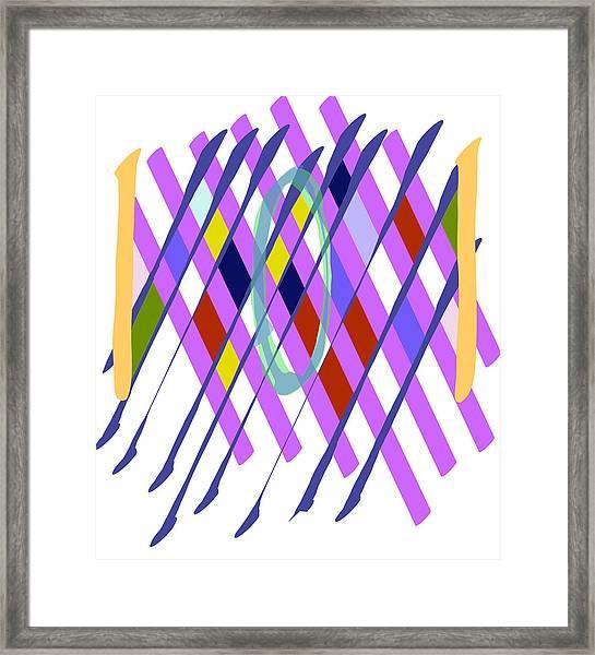 Improvised Geometry #1 Framed Print