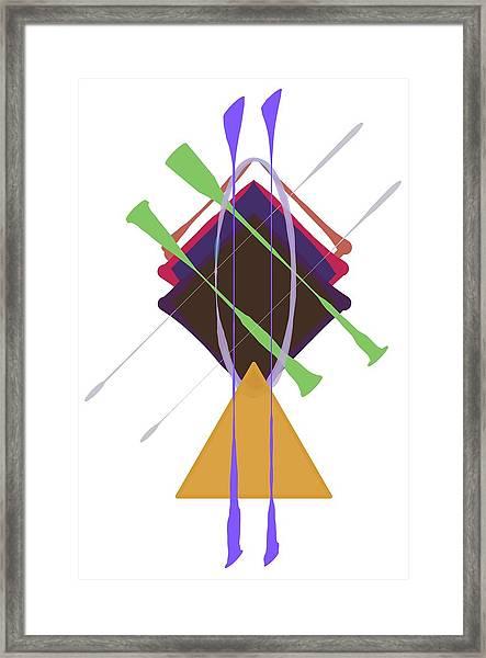 Improvised Geometry #3 Framed Print