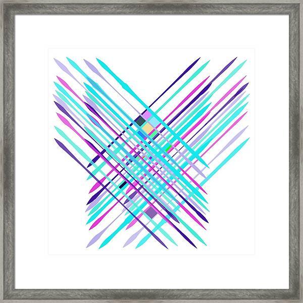 Improvised Geometry #2 Framed Print