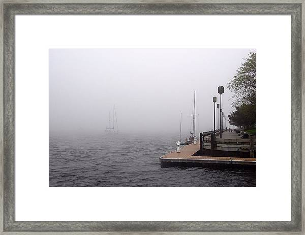 In A Fog In Newburyport Framed Print