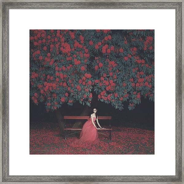 In A Garden Framed Print