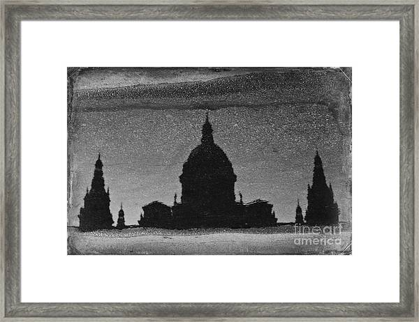 In A Puddle Framed Print