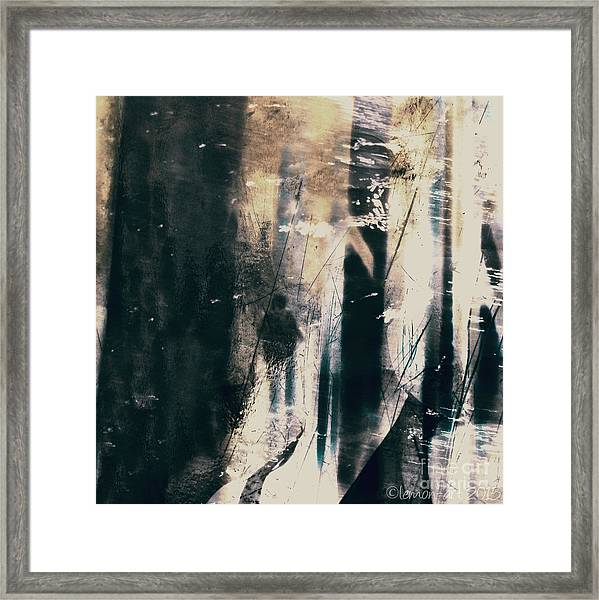 In A Yellow Wood Framed Print