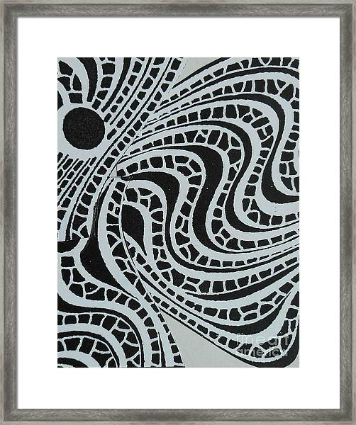 In Black And White Framed Print