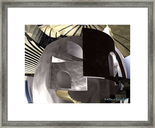 In Depth Hiding Framed Print by Michael Burleigh
