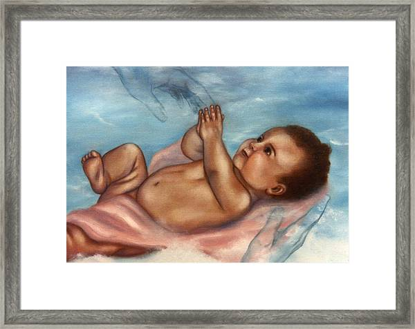 In Gods Hands Framed Print