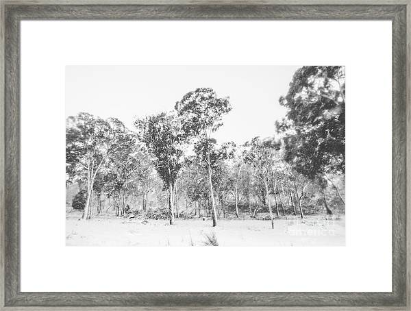 In Gusts Of A Snowstorm Framed Print