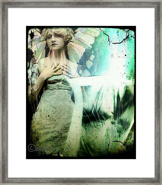 In Her Dreams She Could Fly Unfettered Framed Print