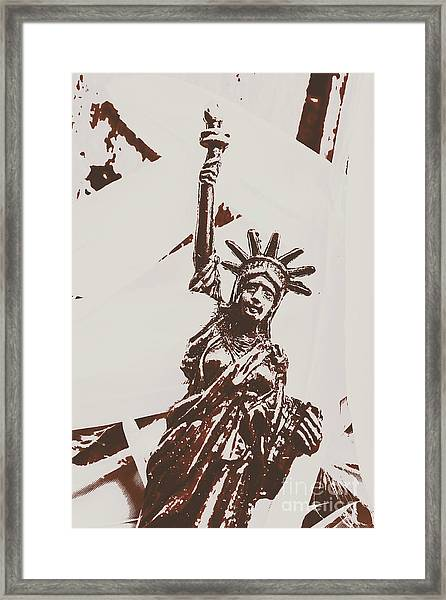 In Liberty Of New York Framed Print