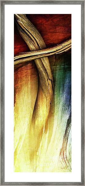 Framed Print featuring the mixed media In Light Of The Cross by Shevon Johnson