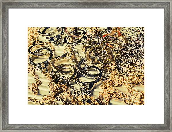 In Locks And Chains Framed Print