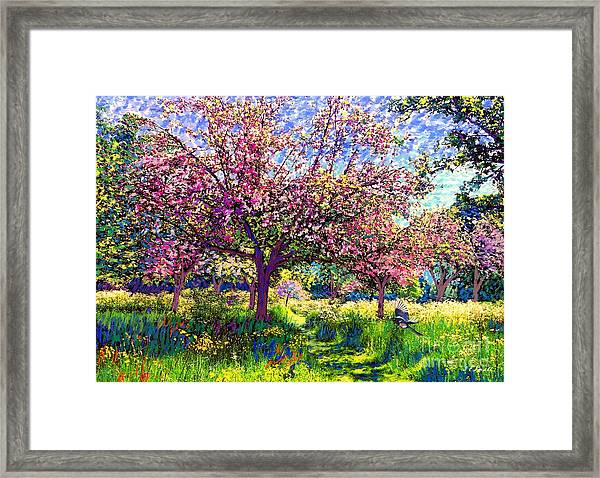 In Love With Spring, Blossom Trees Framed Print