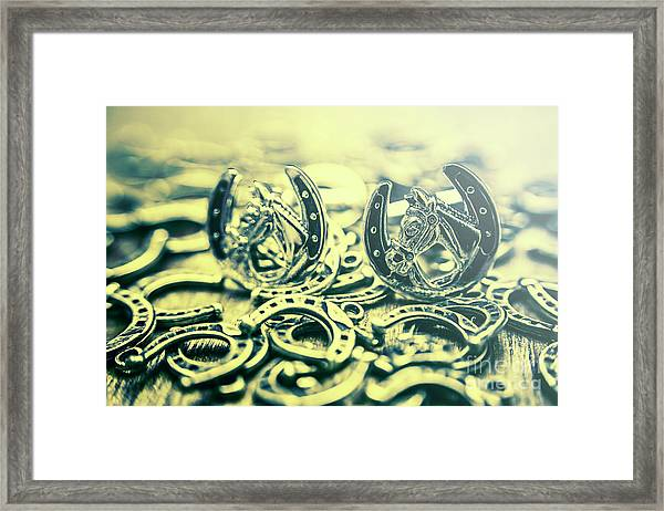 In Luck Of The Horse Race Framed Print