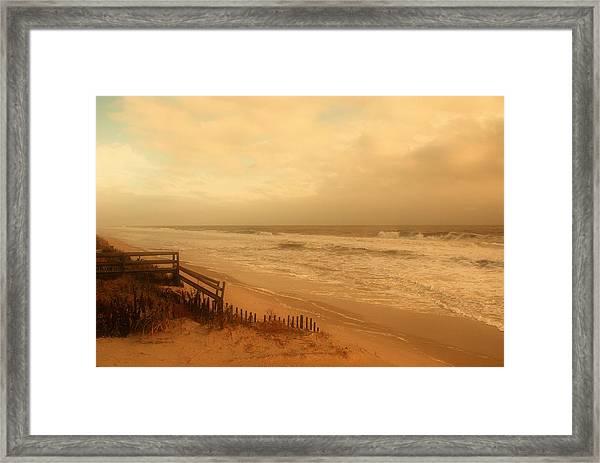 In My Dreams The Ocean Sings - Jersey Shore Framed Print