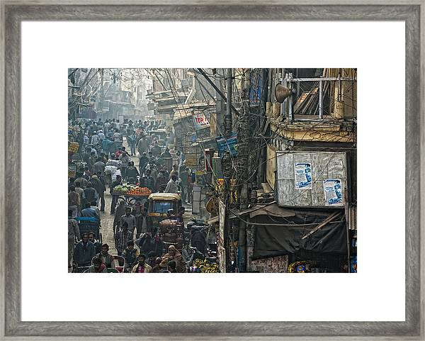 In Pursuit Of A Living Framed Print by Prateek Dubey
