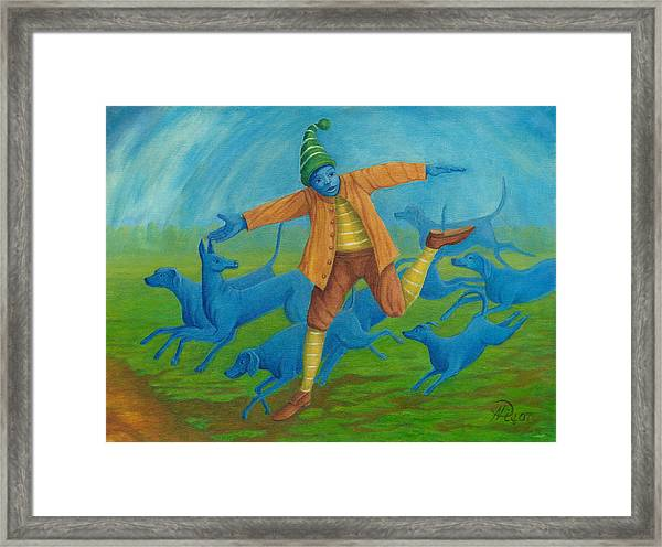 In Pursuit Of Anything. Framed Print