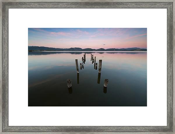 In Riva Al Lago Framed Print
