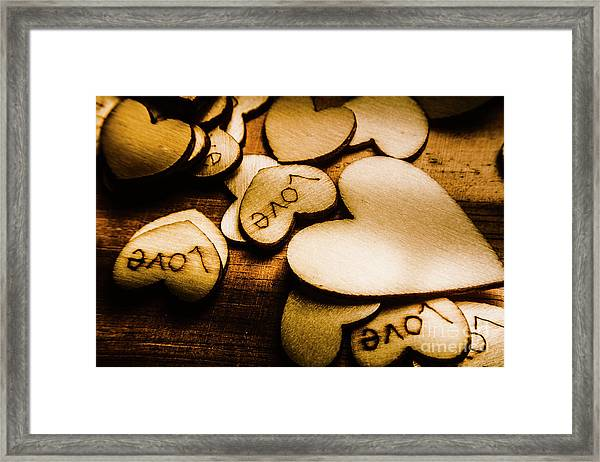 In Sentiment Of Contrasts Framed Print
