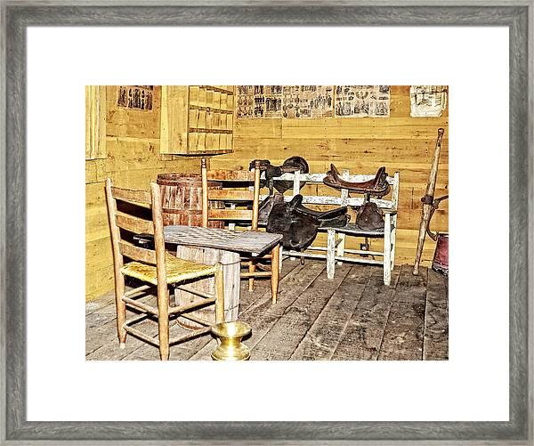 In The Barn Framed Print