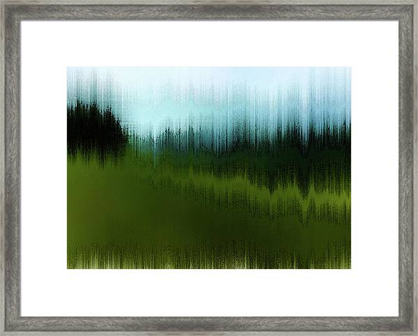 Framed Print featuring the digital art In The Black Forest by Gina Harrison