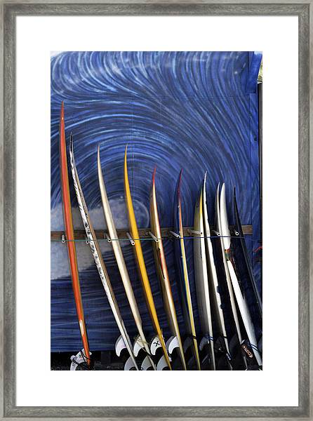 In The Curl Framed Print
