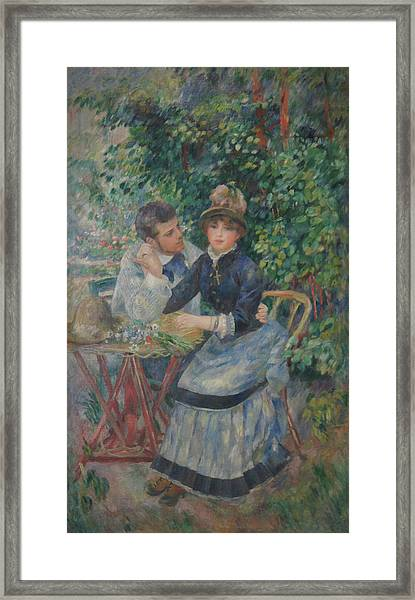 In The Garden  Framed Print by Pierre Auguste Renoir