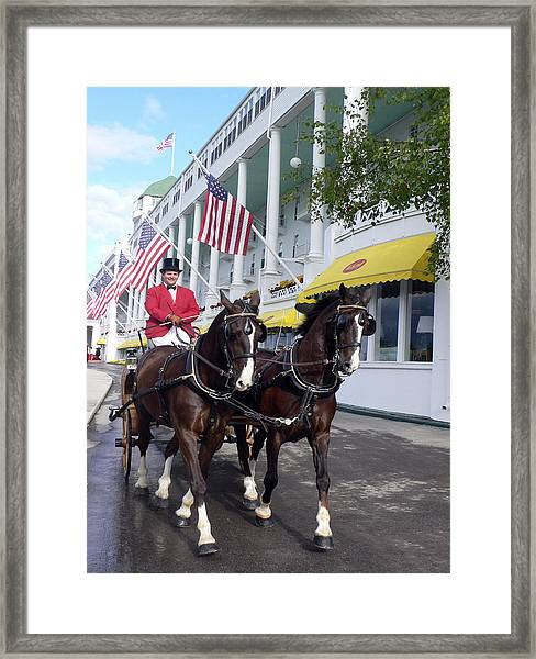 In The Grand Mackinac Manner Framed Print by Charles  Ridgway