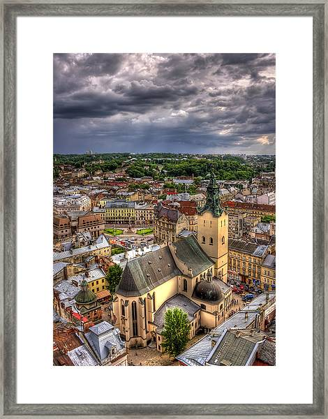 In The Heart Of The City Framed Print