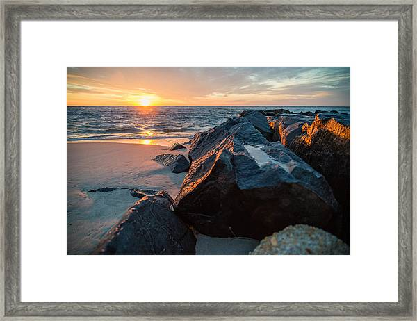 In The Jetty Framed Print