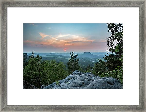 In The Land Of Mesas Framed Print