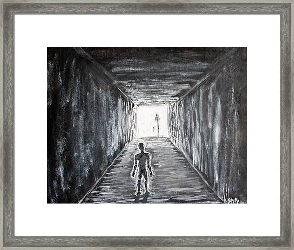 Framed Print featuring the painting In The Light Of The Living by Antonio Romero
