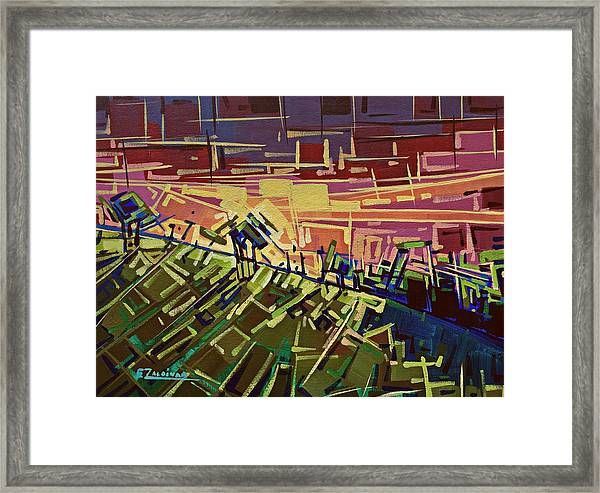 In The Middle Of The Mountain  Framed Print