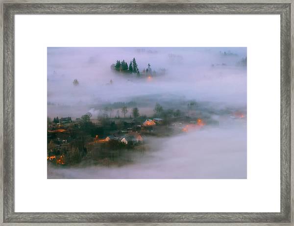 In The Morning Fog Framed Print