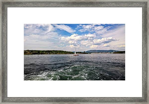 In The Oslo Fjord Framed Print