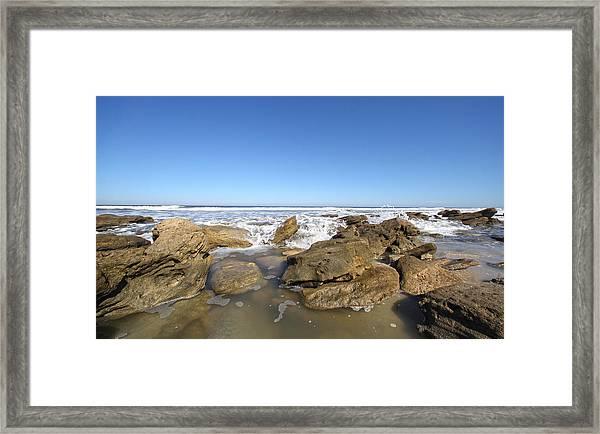 In The Rocks Framed Print