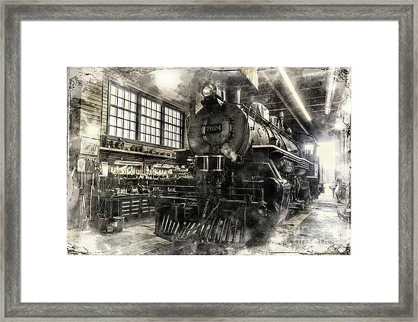 In The Roundhouse Framed Print